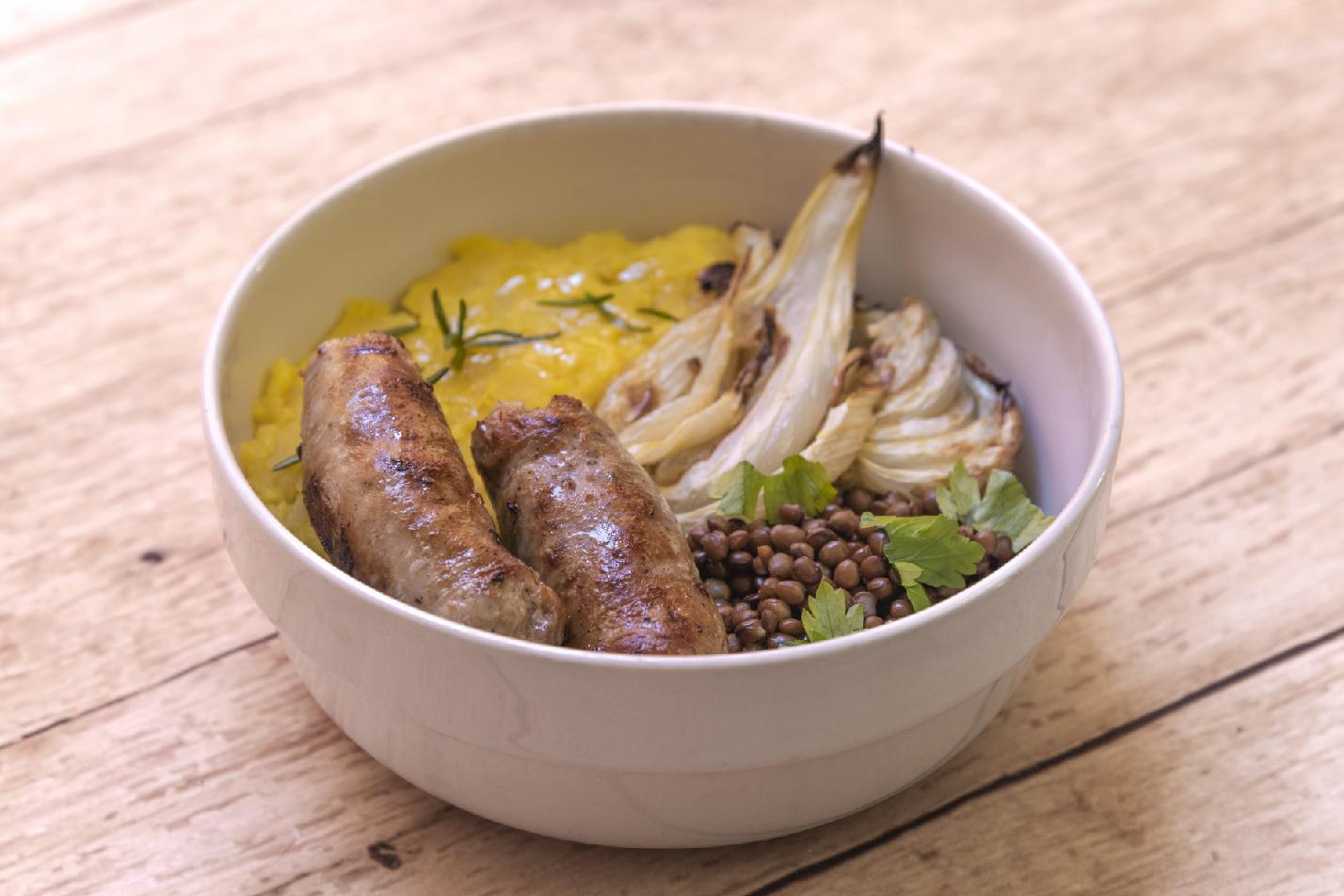 salsiccia-lenticchie-patate-finocchio