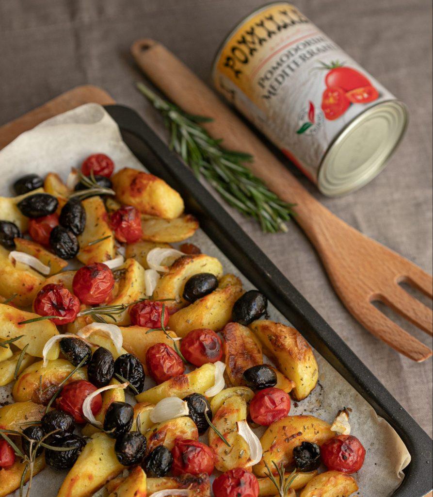 patate alla mediterranea con pomodorini Pomilia
